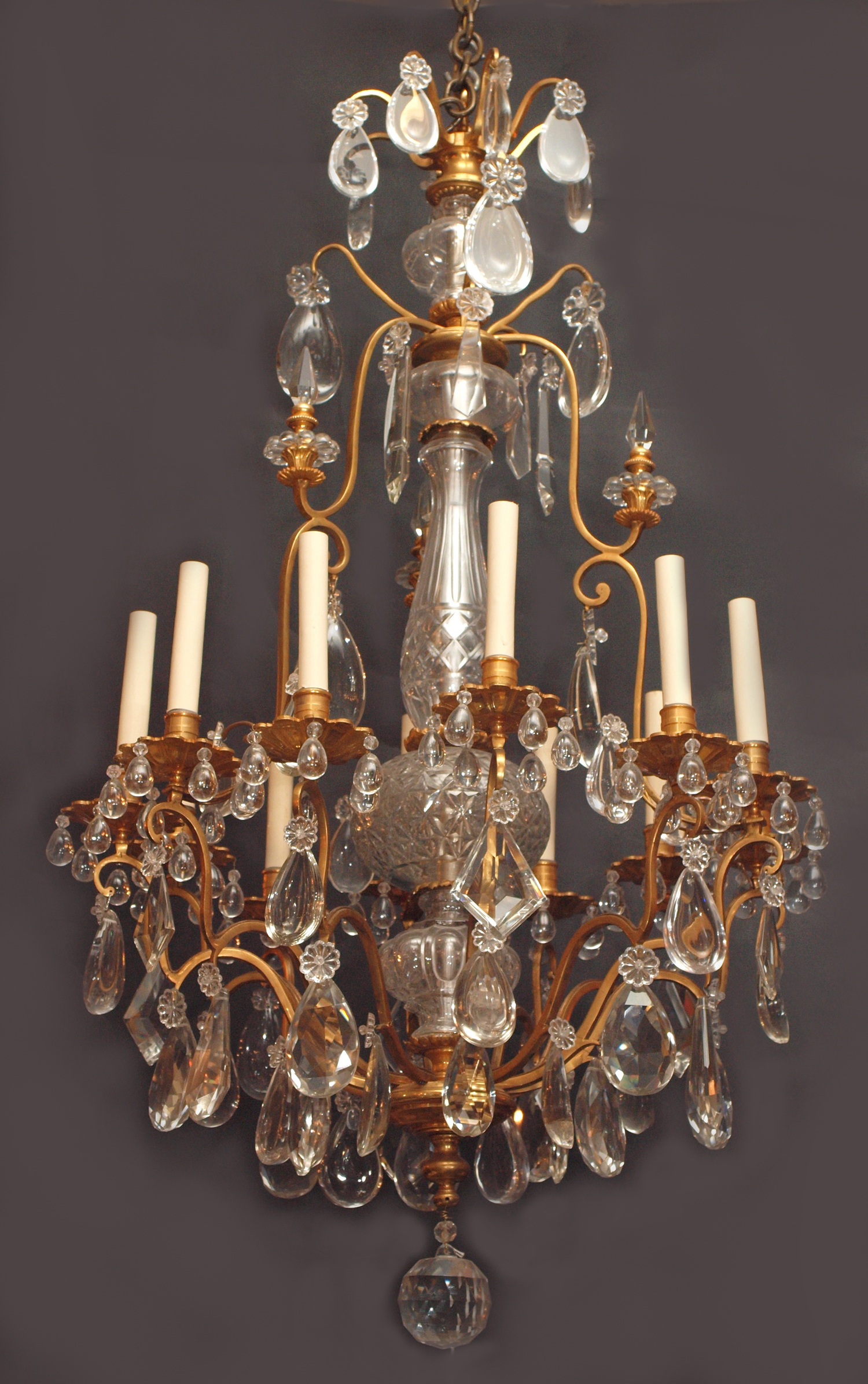 Antique french crystal and bronze d 39 ore chandelier chc122 for sale classifieds - Chandeliers on sale online ...