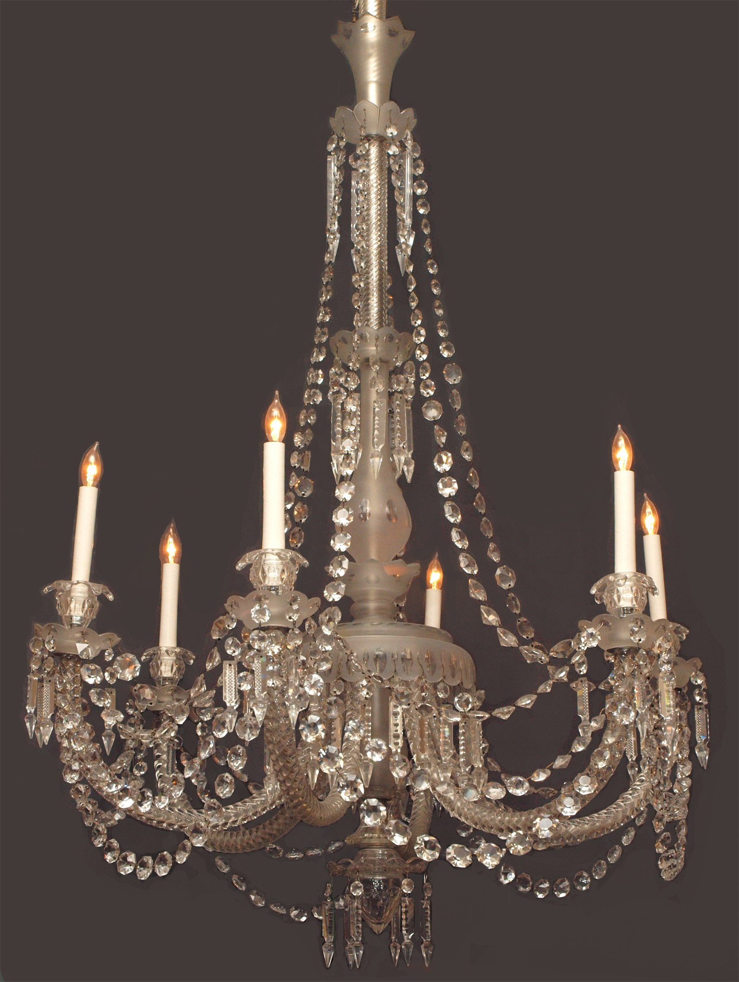 Antique english 19th century gasolier fine lead crystal chandelier antique english 19th century gasolier fine lead crystal chandelier chc24 for sale aloadofball Image collections