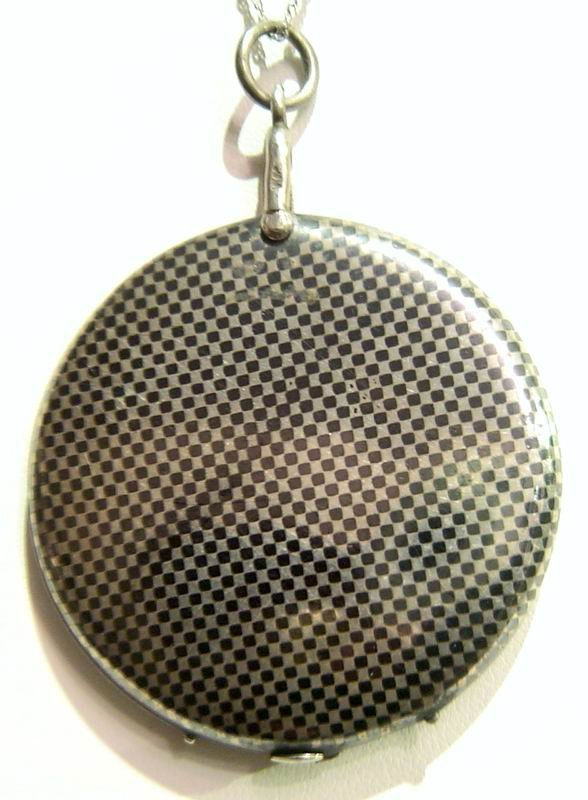 Sterling Silver Antique Locket Niello Sterling Silver Locket