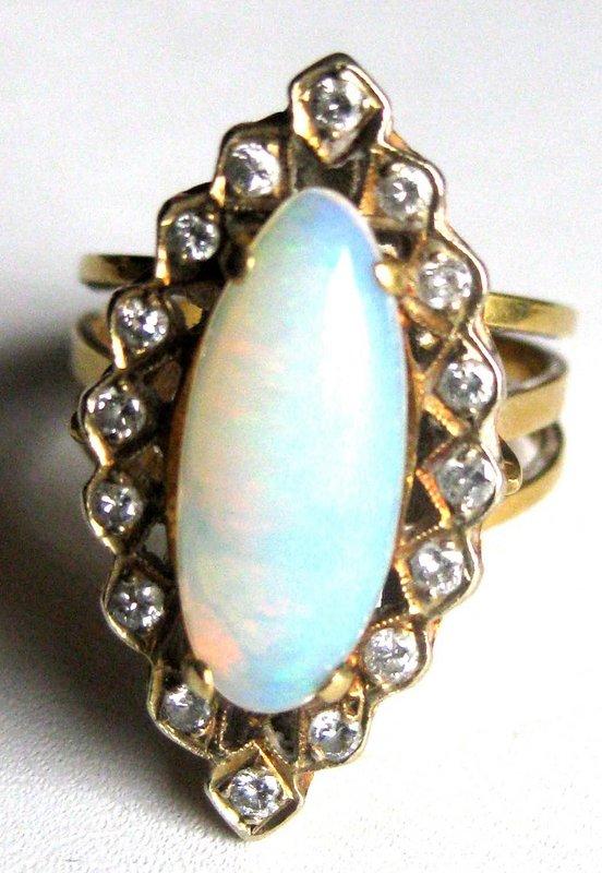 Antique Opal Amp Diamond Ring For Sale Antiques Com