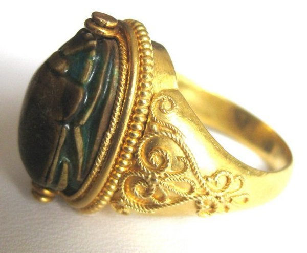 Victorian 22k Gold Scarab Ring For Sale Antiques