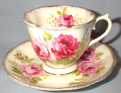 ENGLISH BONE CHINA - CUP & SAUCER For Sale | Antiques com