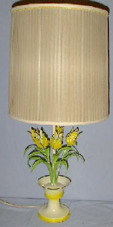 Shabby Chic Metal Flower Table Lamp For Sale Antiques Com