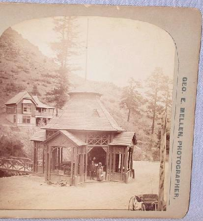 Stereoview railroad station at ute iron spring for sale for Railroad stations for sale