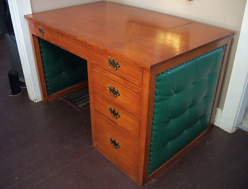 Vintage Cherry Desk Mid Century Modern Drafting Table