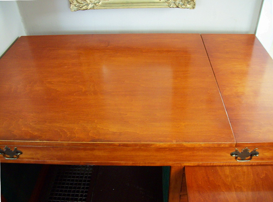 Vintage Cherry Desk Mid Century Modern Drafting Table