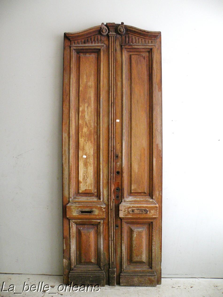 Best french wooden double entrance door carved l k for Wooden french doors