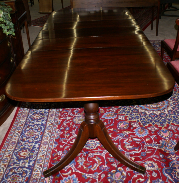 Antique Mahogany Dining Room Table and Chairs-