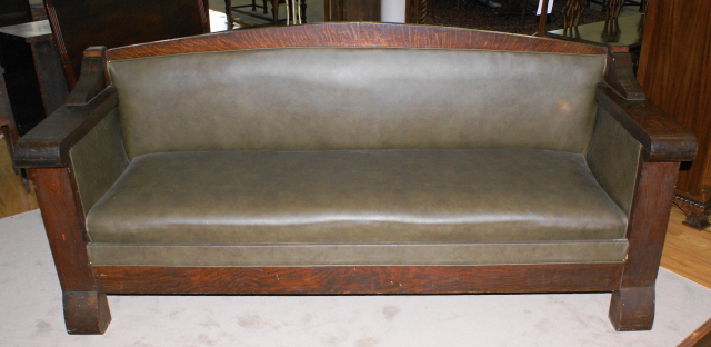 Incredible Very Solid All Original Mission Oak Sofa   For Sale