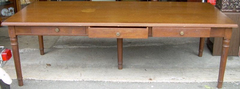 Large Country Style Harvest Table   For Sale
