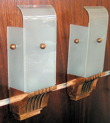 1940s copper sconces