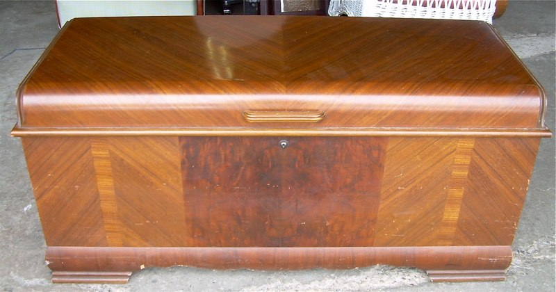 art deco waterfall cedar chest for sale