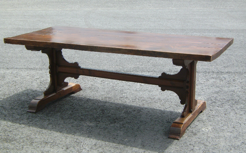 Large Early Continental Trestle Table C1800 : Item # 7644   For Sale