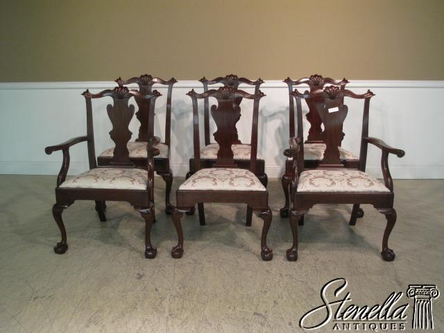 14851 Set 6 HENKEL HARRIS Claw Mahogany Dining Chairs
