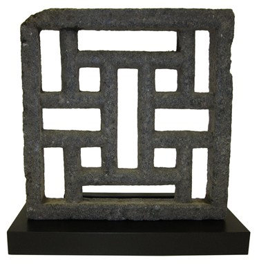 Stone window screen chinese screen 18th century stone for Window screens for sale