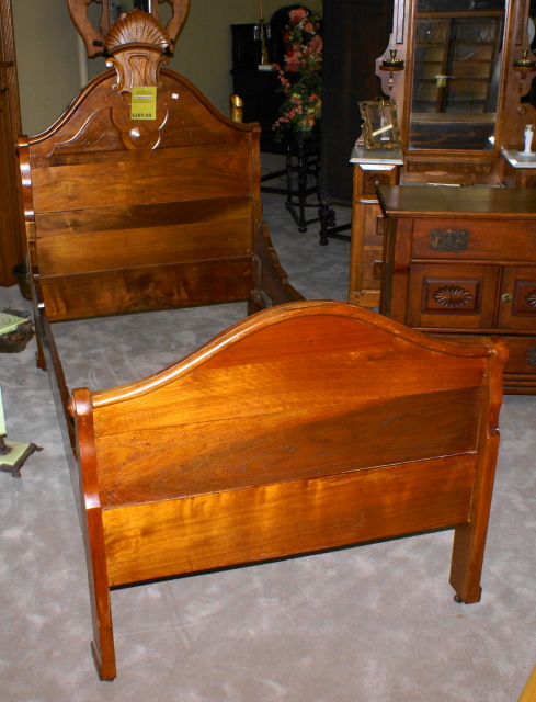 Hard To Find Late Victorian Youth Bed In Solid Walnut For