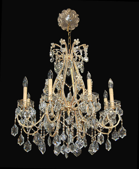 French beaded crystal chandelier for sale classifieds - Chandeliers on sale online ...