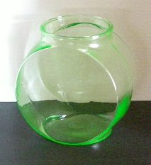 Green Glass Fish Bowl G132 For Sale
