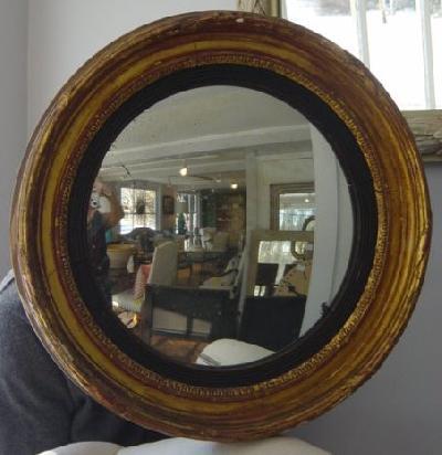 Gilt Bullseye Convex Mirror Crtconvex For Sale Antiques