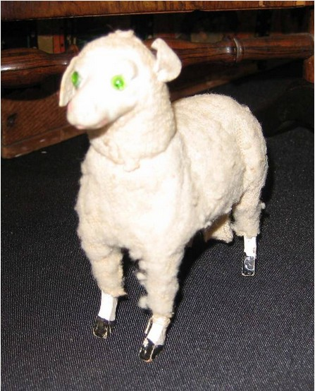 antique toy animal sheep candy