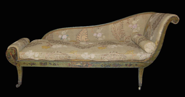 Classifieds antiques antique furniture for Chaise longue in english