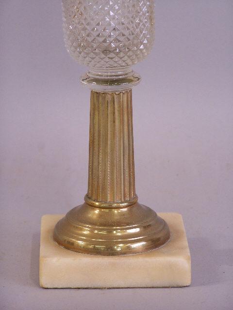 kerosene lamp with brass and marble base 1860 this antique kerosene. Black Bedroom Furniture Sets. Home Design Ideas
