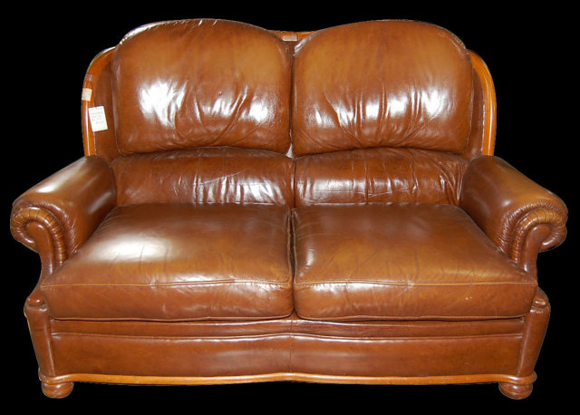Vintage French Leather Sofa For Sale Classifieds