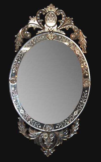 Antique Oval Venetian Mirror For Sale Antiques Com