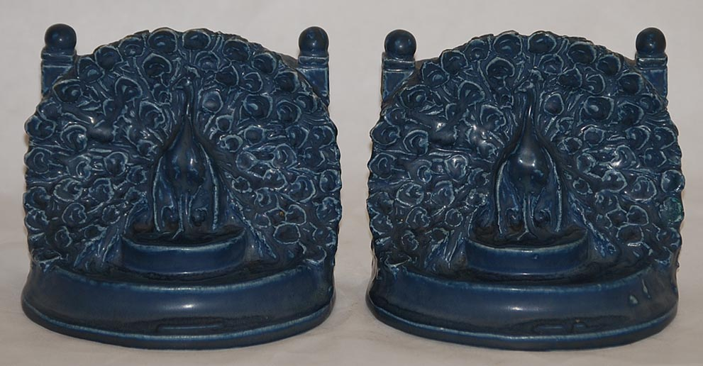 Rookwood Pottery 1917 Peacock Bookends 2445 Mcdonald For Sale Classifieds