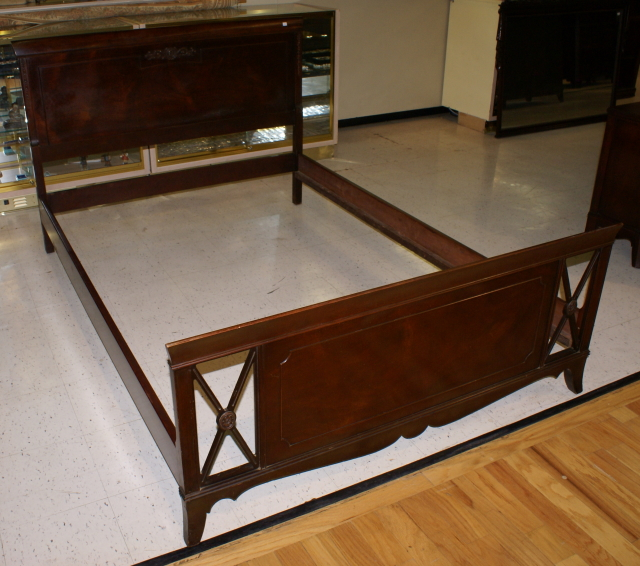 nice mahogany full size sleigh bed for sale classifieds. Black Bedroom Furniture Sets. Home Design Ideas
