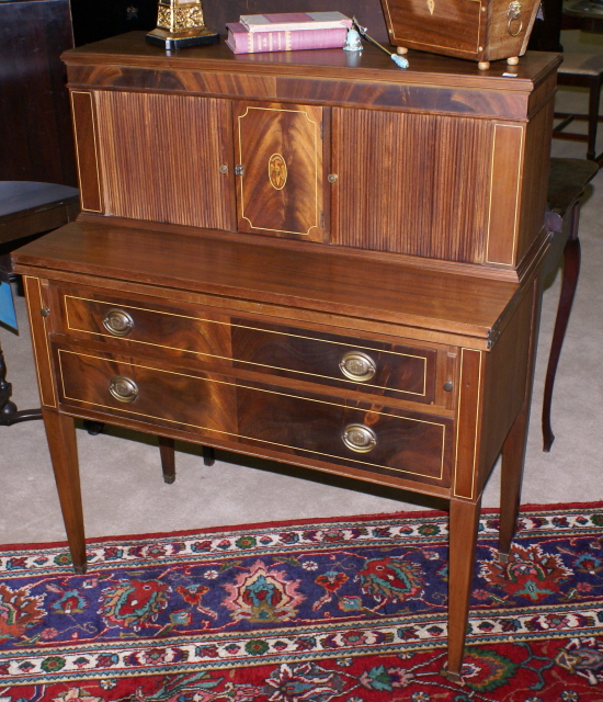 Incredible Light Red Mahogany Federal Desk For Sale Classifieds