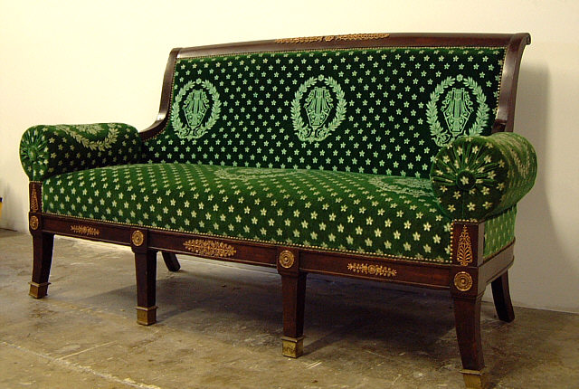 French Empire Ormolu Sofa Couch Item 2792 For Sale