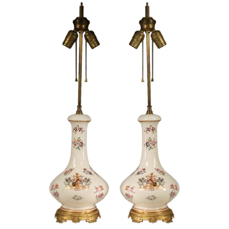pair of porcelain lamps for sale classifieds. Black Bedroom Furniture Sets. Home Design Ideas
