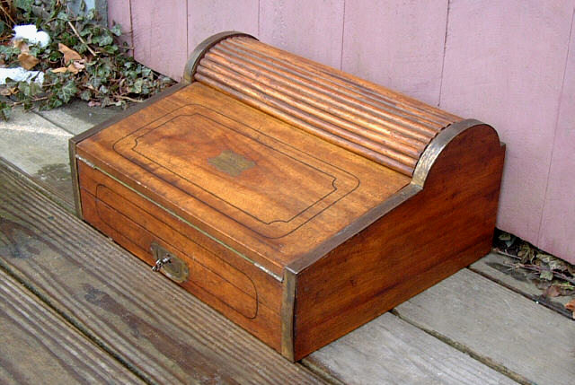 Antique Camphorwood Maritime Lap Roll Top Desk Circa 1820 To 1840 Item 2703 For