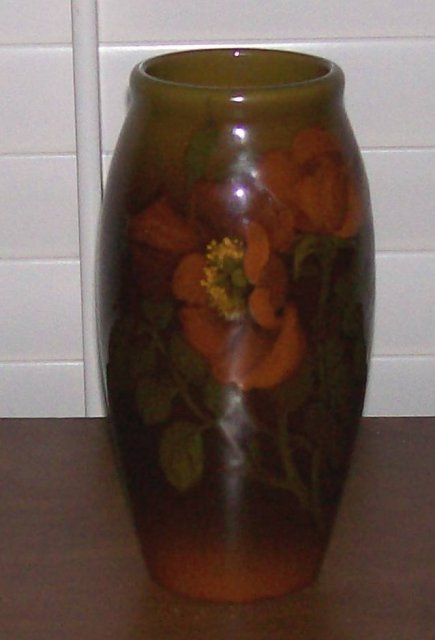 rookwood standard glaze floral vase by demarest for sale antiques com classifieds