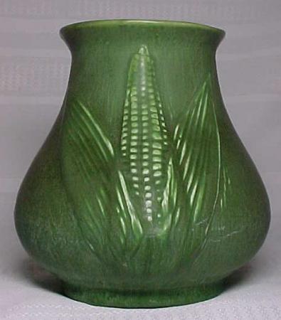 Hampshire Pottery Fabulous Matt Green Vase Corn Maize For Sale