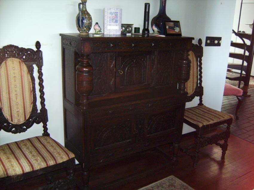 English Centennial Tudor Style Court Cupboard C1880 Item