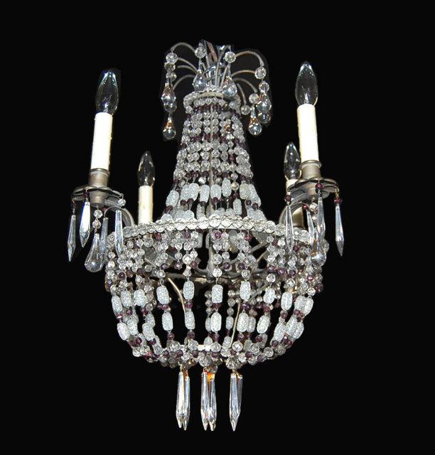 Vintage french crystal basket chandelier for sale classifieds - Chandelier for sale ...