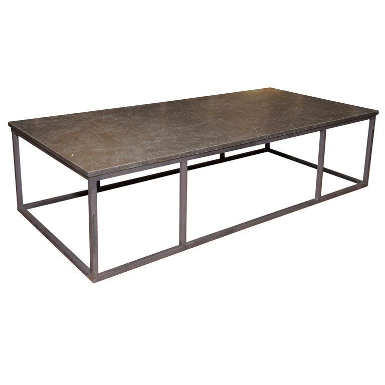 Sleek stone and iron coffee table for sale classifieds Sleek coffee table