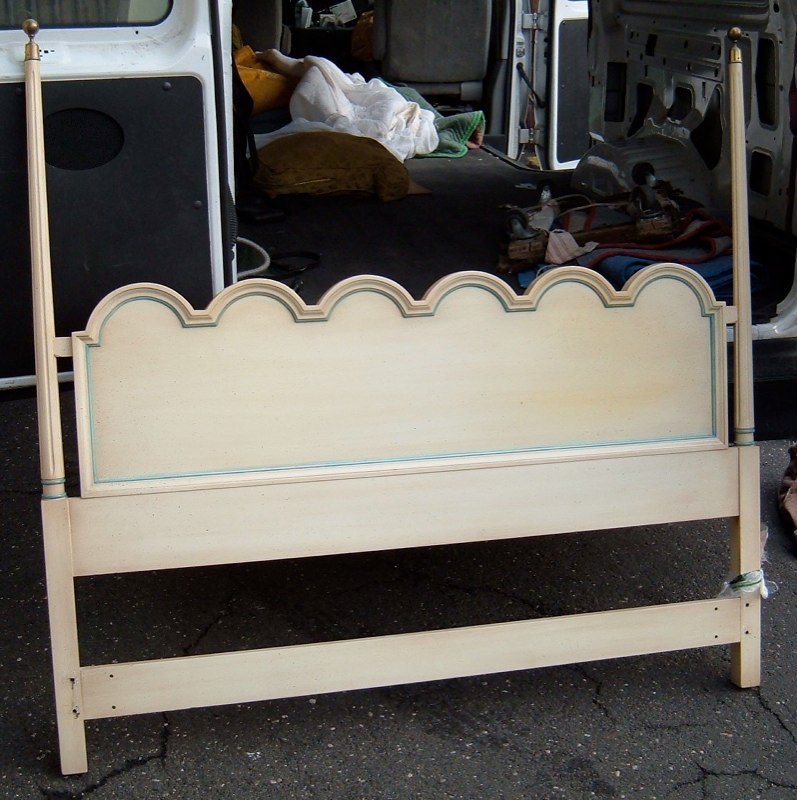 Queen size painted headboard for sale for Painted on headboard