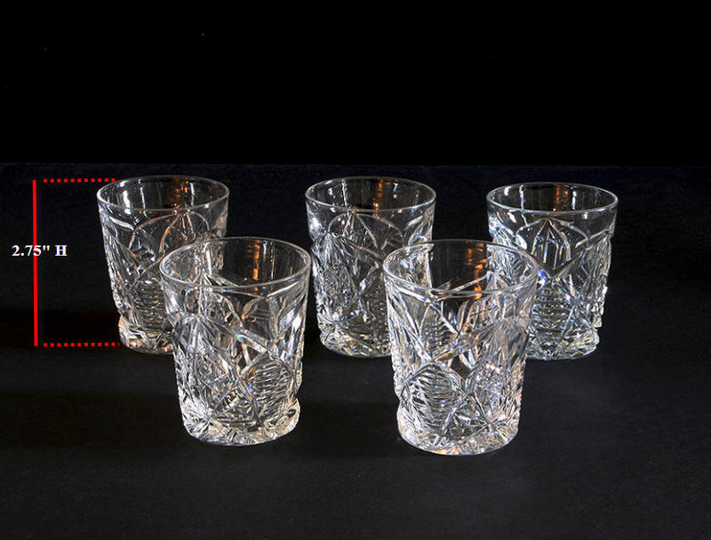 Square Crystal Drinking Glasses