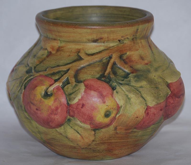 Weller Pottery Baldin Bulbous Apple Vase For Sale Antiques