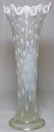 Northwood Glass Company White Opalescent Tree Trunk Vase For Sale Antiques Com Classifieds