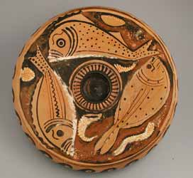 Apulian Red Figure Fish Plate Pf 6108 For Sale