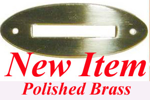 """LOT OF 10 EACH SOLID BRASS OVAL COIN SLOT 2 1//4/"""" X 7//8/""""  B9852"""