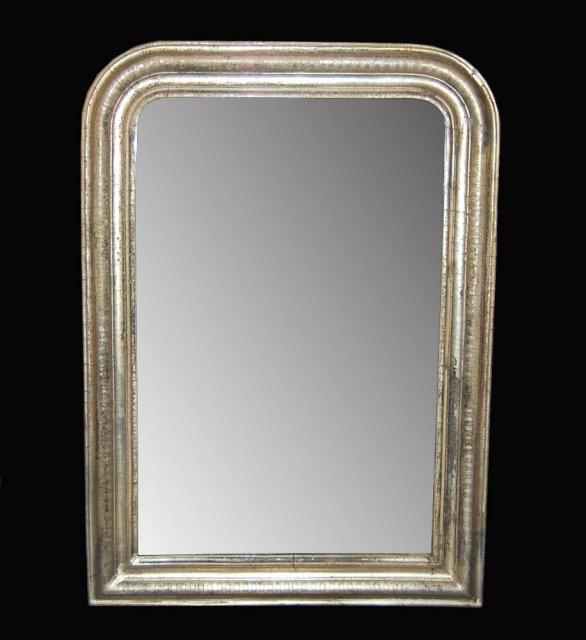 Silver louis philippe mirror for sale for Silver mirrors for sale