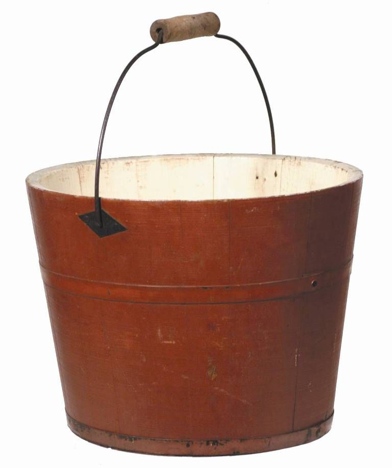 Superb 19th c american shaker classic pail with original for American classic antiques