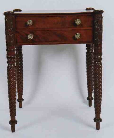 Fine Early 19th C American Sheraton North Shore Attributed Samuel Field Mcintyre Carved Two