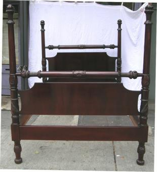 antique american four poster bed for sale