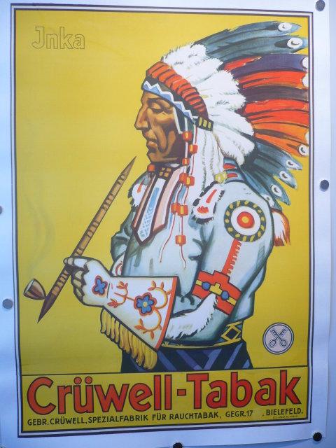 Vintage Biggs Tabak Zeichen